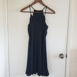 Slinky Black Fit and Flare Express Dress